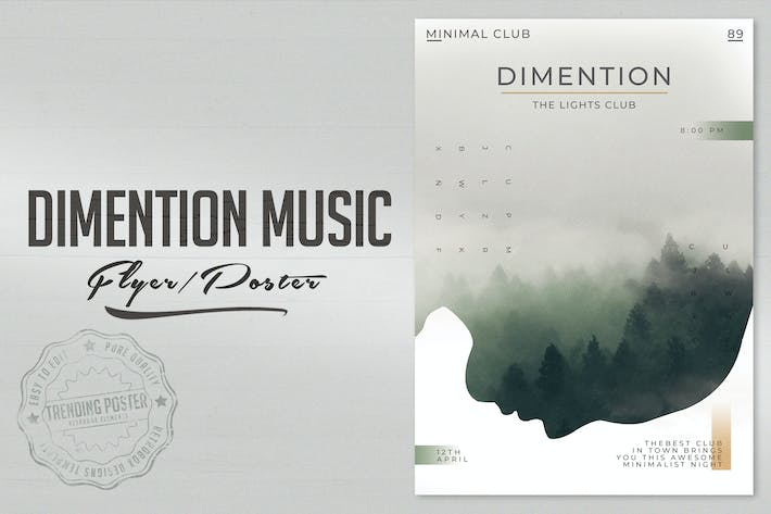 Thumbnail for Dimention Music Flyer Poster