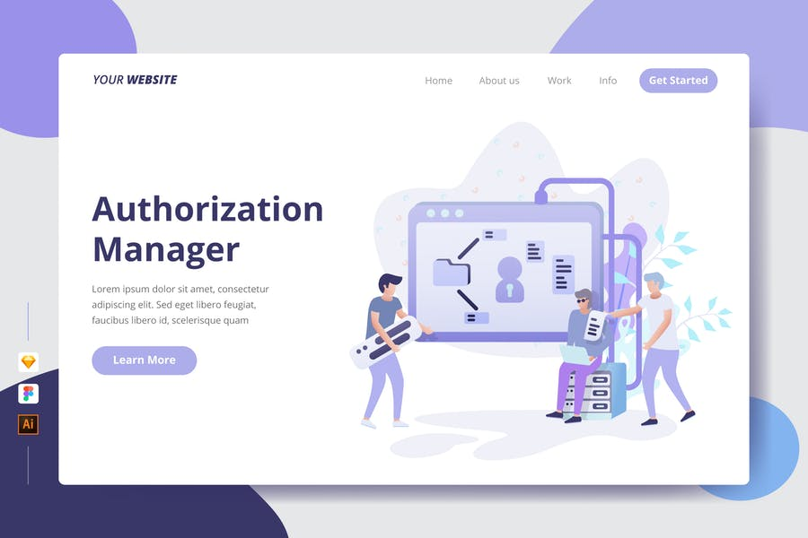 Authorization Manager - Landing Page