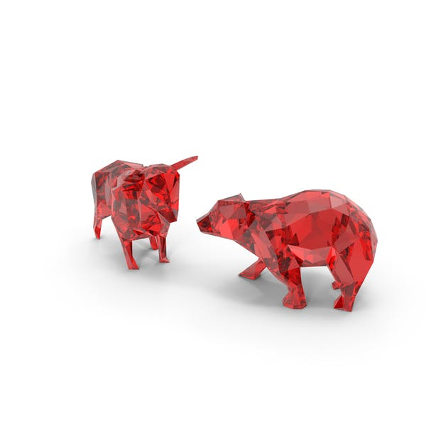 Low Poly Bull and Bear