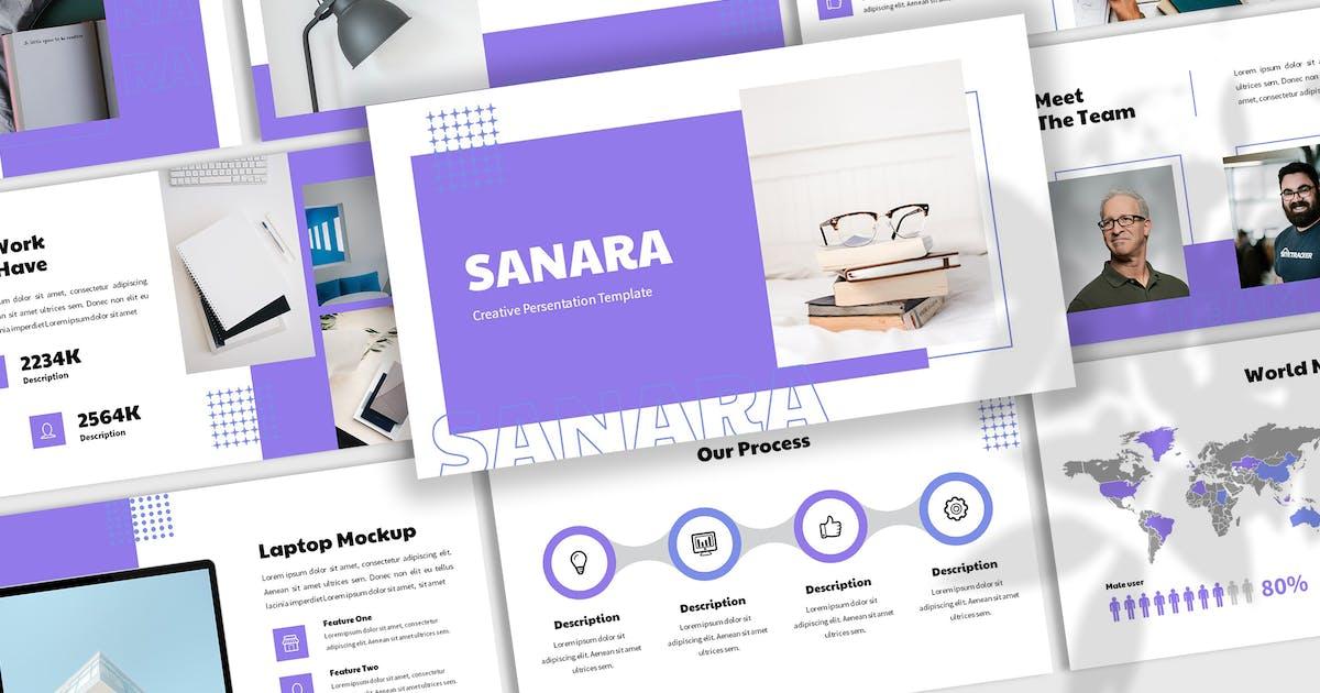 Download Sanara - Creative Keynote Template by SlideFactory