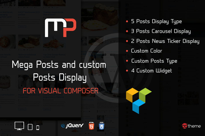Thumbnail for Mega Posts Display for Visual Composer
