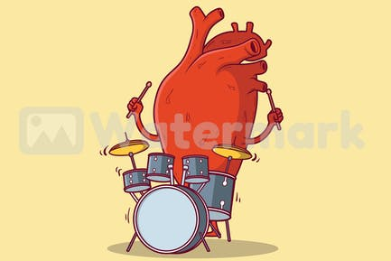 Heart Playing drums