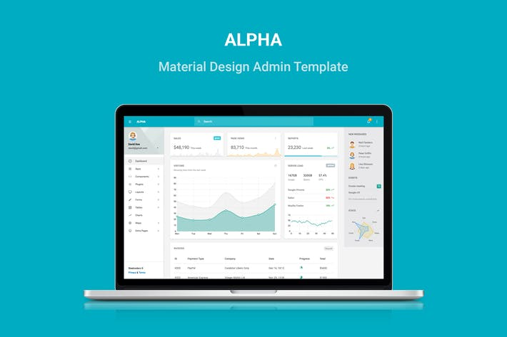 Thumbnail for Alpha - Material Design Admin Template