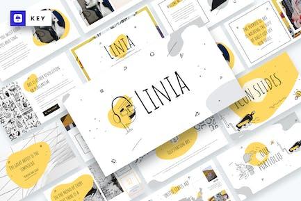 LINIA - Plantilla de Keynote líneas