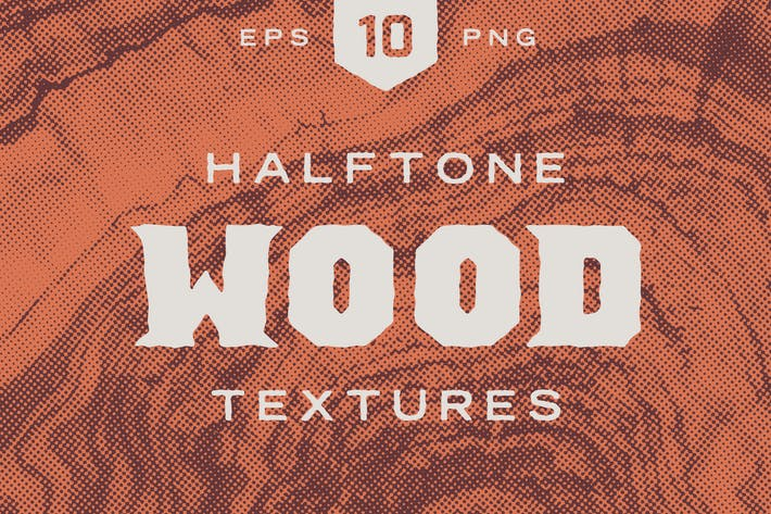 Thumbnail for Wood Halftone Textures