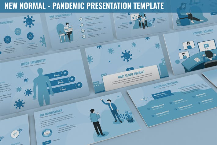 Thumbnail for New Normal - Pandemic Presentation Template
