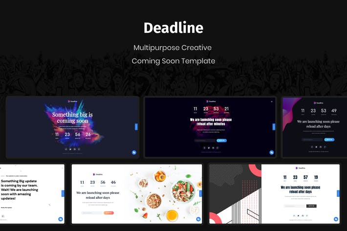 Thumbnail for Deadline - React Coming Soon Templates