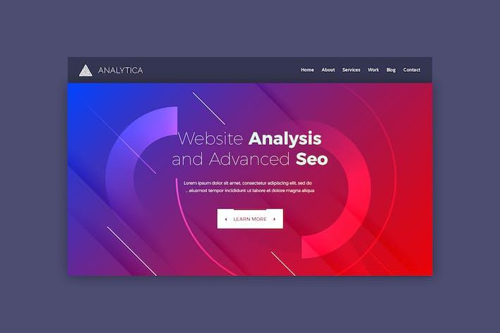 Thumbnail for Analytica - Шаблон веб-страницы