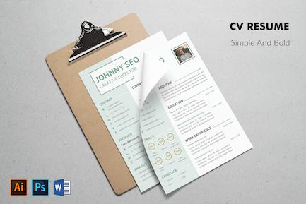 CV Resume Simple And Modern