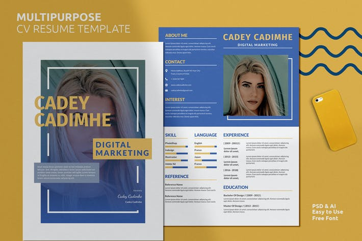Thumbnail for Multipurpose Resume CV Vol. 19