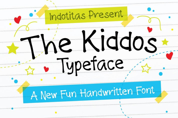 Cover Image For The Kiddos Typeface