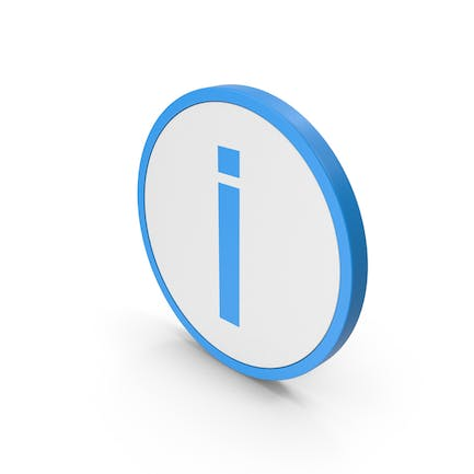 Icon Inverted Exclamation Mark Blue