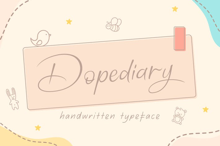 Thumbnail for Dopediary Handwritten Typeface