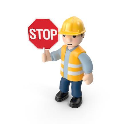 Arbeitskraft mit Stoppzeichen