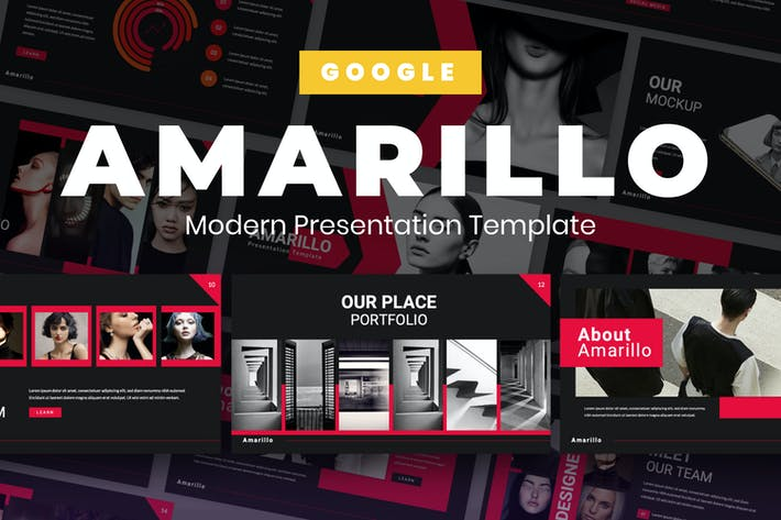 Thumbnail for Amarillo Black Business Google Slide Presentation