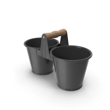 Twin Pot Black