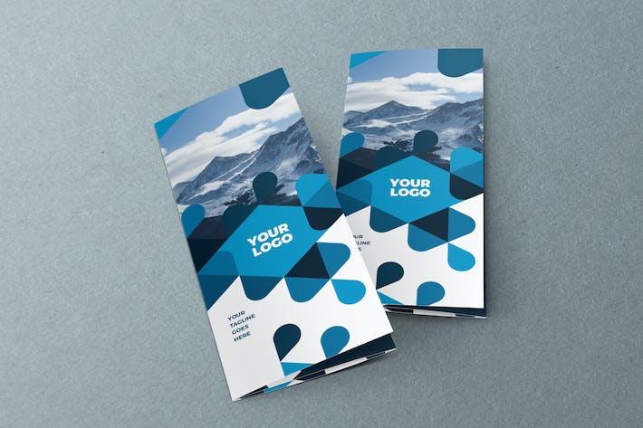 Thumbnail for Blue Pattern Modern Trifold