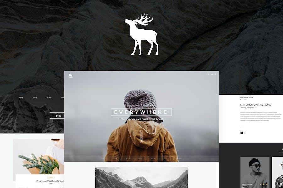 EVERY - Creative Onepage PSD Template