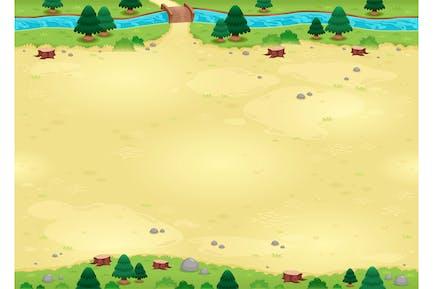 Natur Hintergrund für Spiele mit endlosen Seiten