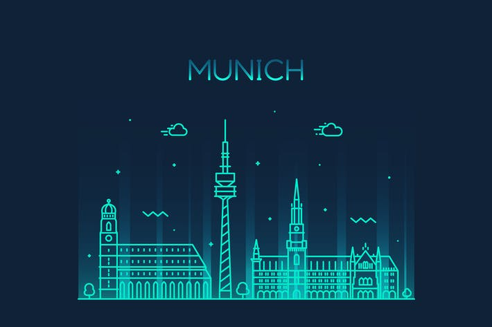 Thumbnail for Munich skyline, Germany