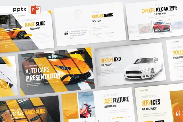 Thumbnail for AUTO CARS - Powerpoint  V314