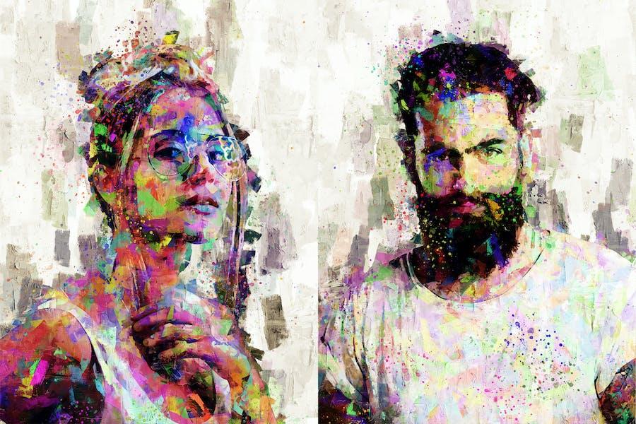 Chroma Art Palette Knife Photoshop Action