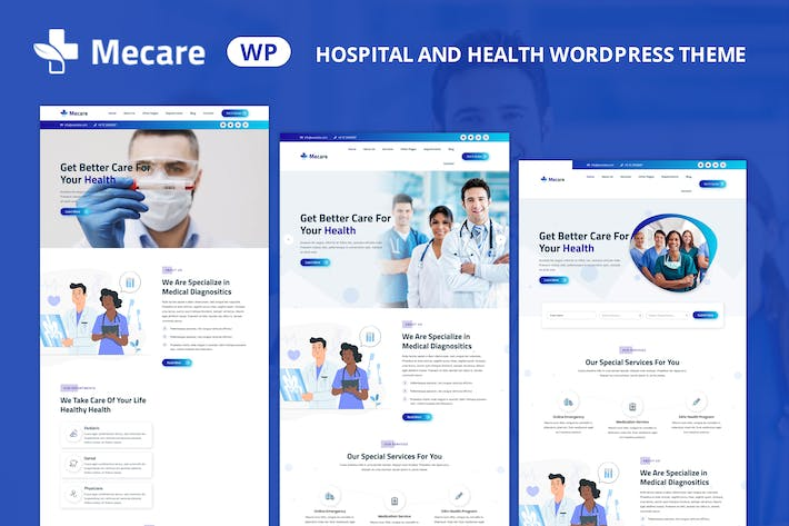 Mecare – Hospital and Health WordPress Theme
