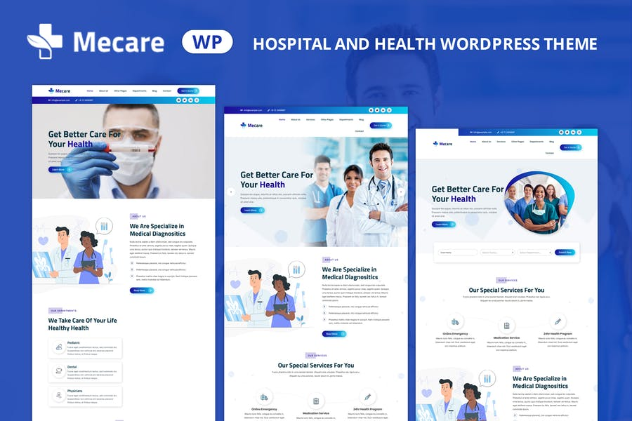 Mecare — Krankenhaus und Gesundheit WordPress Thema