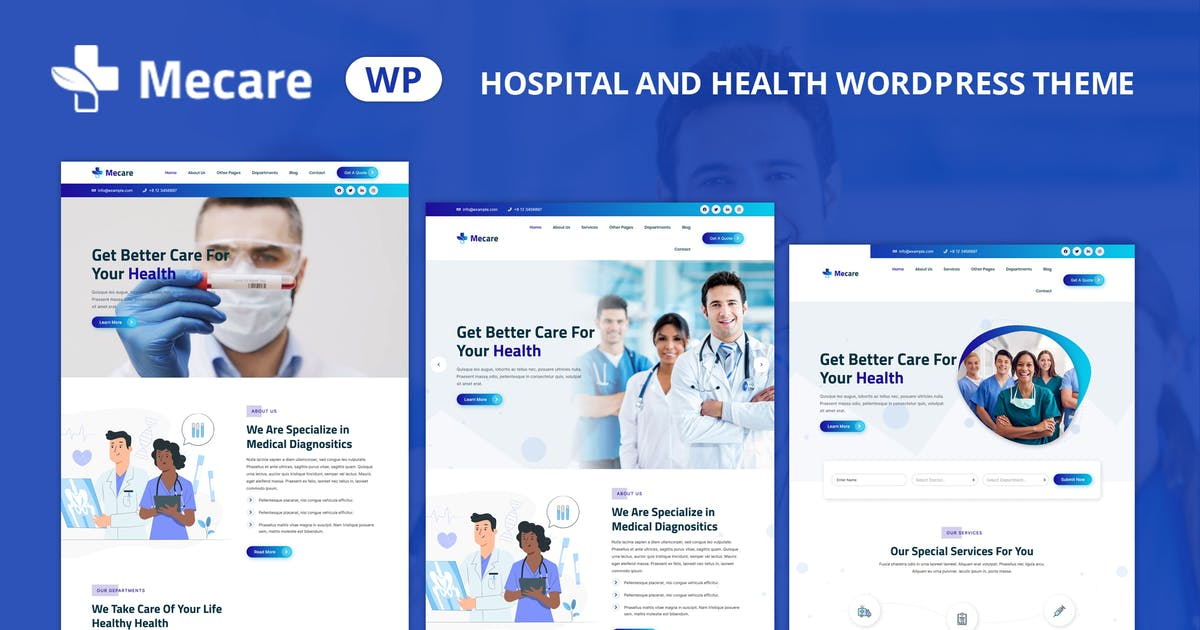 Download Mecare – Hospital and Health WordPress Theme by shtheme