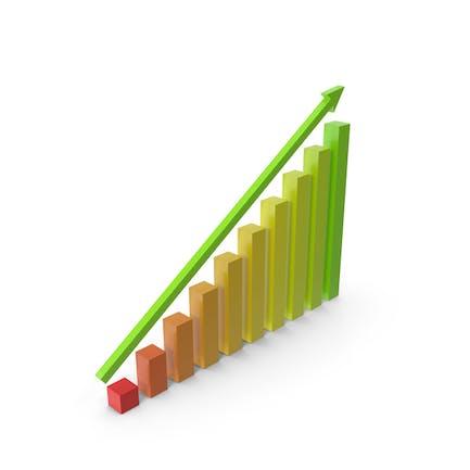 Gráfico recto hacia arriba