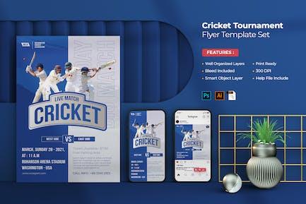 Cricket Tournament Flyer & Instagram
