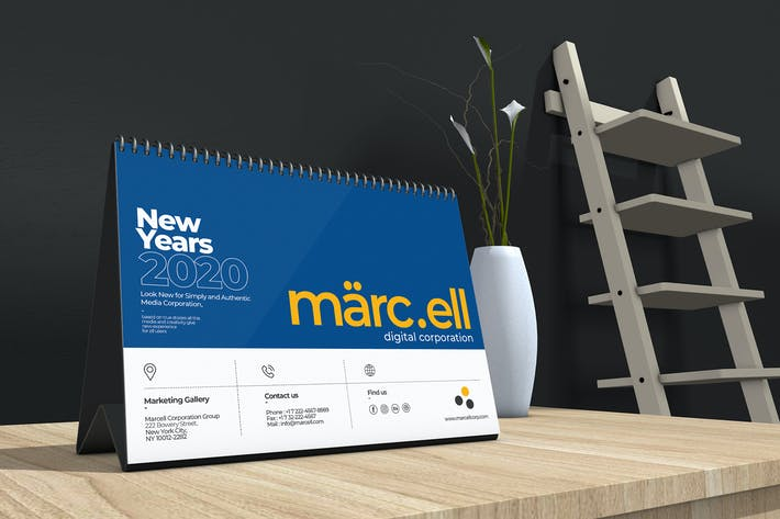 Thumbnail for Marcell Corporate Table Calendar 2020