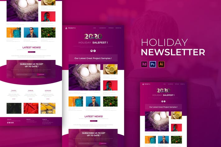 Thumbnail for Holiday | Newsletter Template