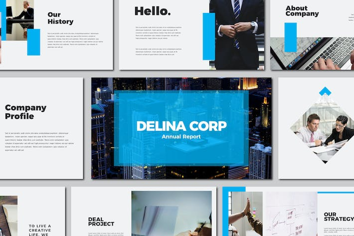 Thumbnail for Delina Business - Powerpoint Templates