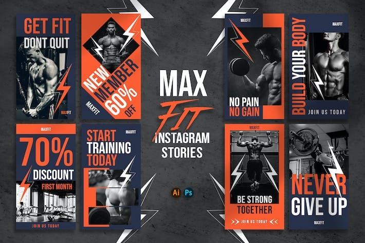 Thumbnail for MAXFIT - Instragram Stories
