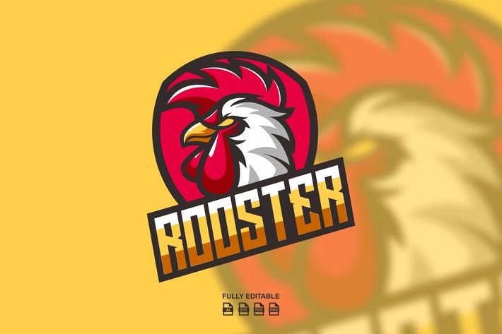 ROOSTER MASCOT LOGO TEMPLATES