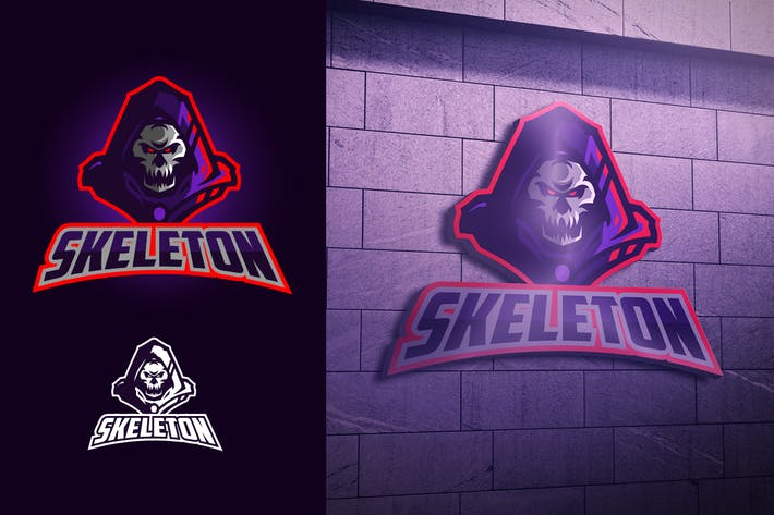 Thumbnail for Skull Knight Mascot Esports Logo