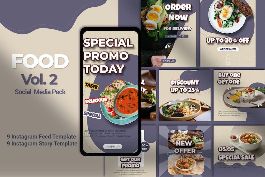 FOOD Vol.2 Instagram Template