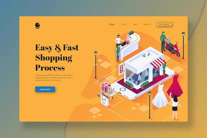 Easy And Fast Shopping Process - Landing Page