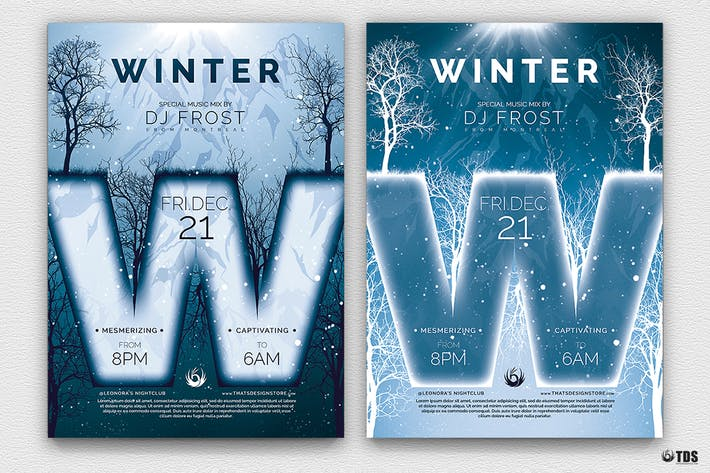 Thumbnail for Minimal Winter Flyer Template
