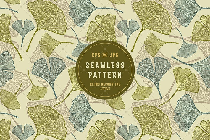 Thumbnail for Seamless Ginkgo Pattern