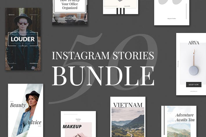 Thumbnail for 50 Instagram-Stories Bundle