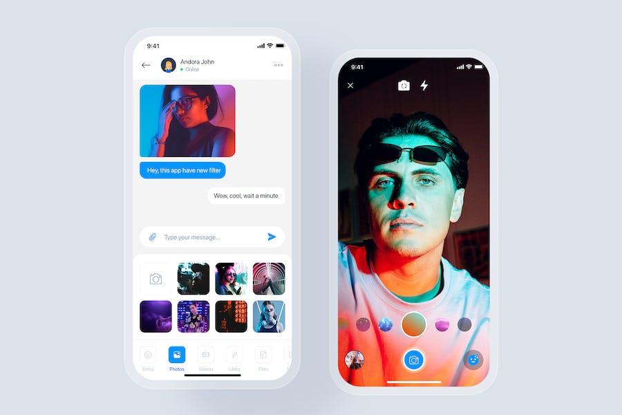Chat/Messages mobile app concept