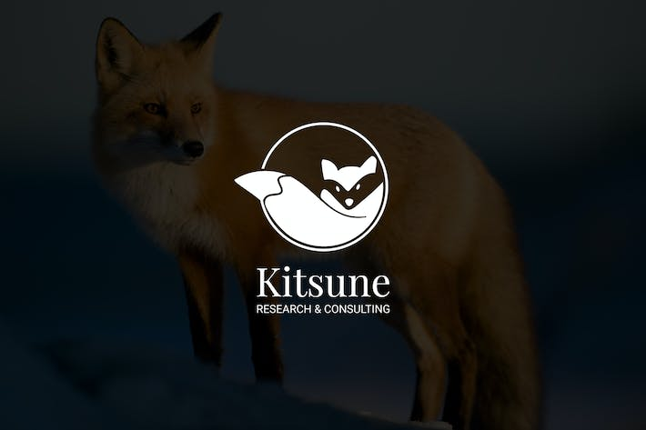 Thumbnail for Kitsune : Negative Space Fox Logo