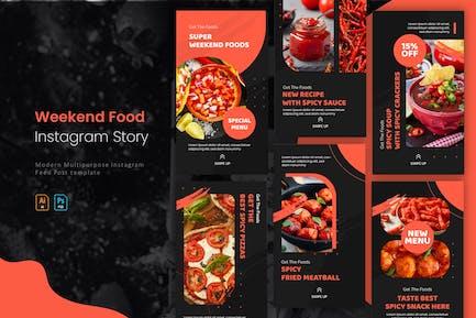 Weekend Foods   Instagram Story