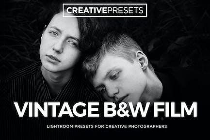 ✨Vintage Film Black & White Lightroom Presets