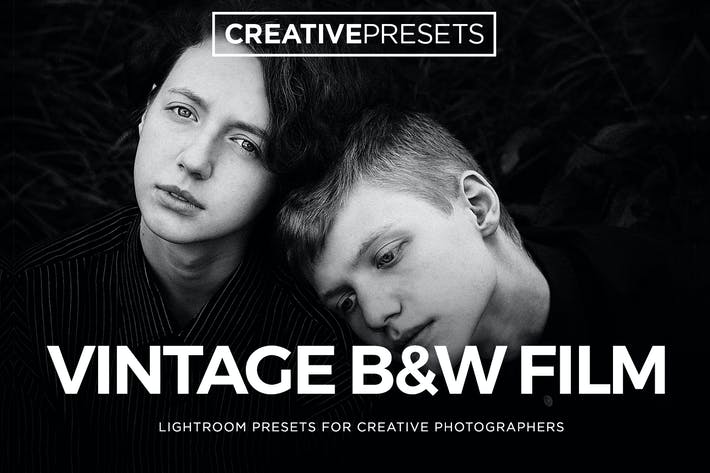 Thumbnail for ✨Vintage Film Black & White Lightroom Presets
