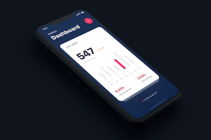 Thumbnail for Analysis Dashboard mobile UI template