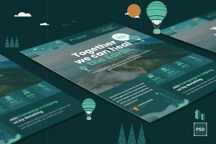 Environmental Flyer PSD Template