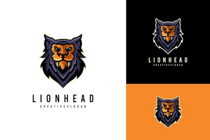 Lion Head Mascot Sport Logo Template